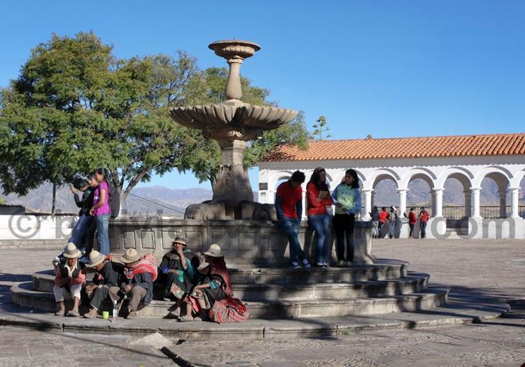 Fontaine place de la Recoleta