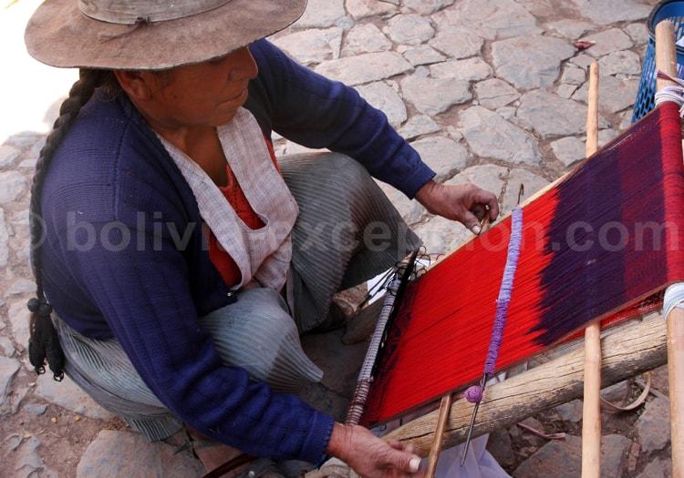 Technique de tissage ancestrale, Bolivie