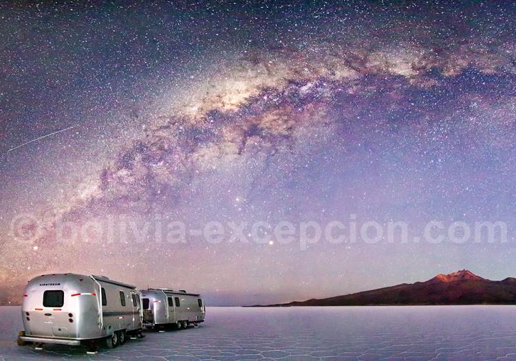 Voie lactée, Salar d'Uyuni, Bolivie