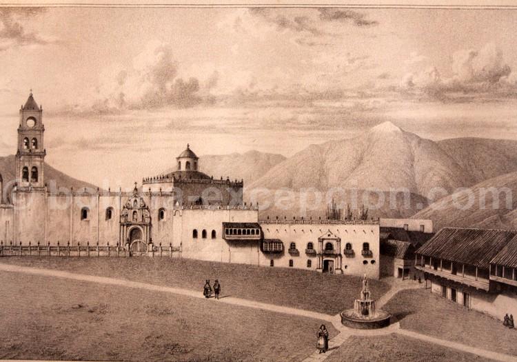 Place de Chuquisaca, lithographie Alcide d'Orbigny 1835