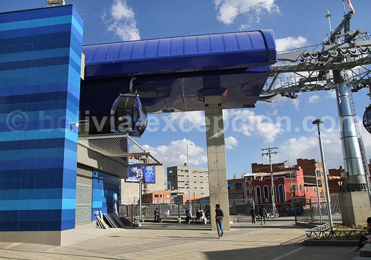 Ligne bleue, La Paz, Bolivie