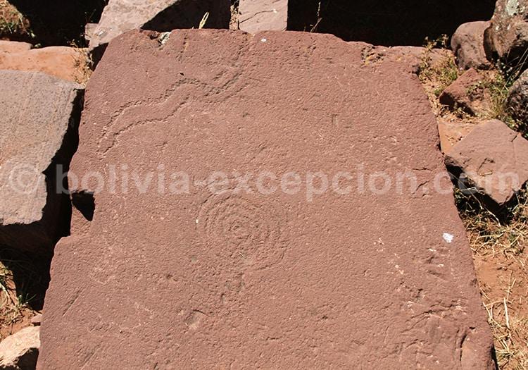 Pétroglyphes, Puma Punku, Bolivie