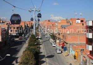 Vue depuis le téléphérique, La Paz