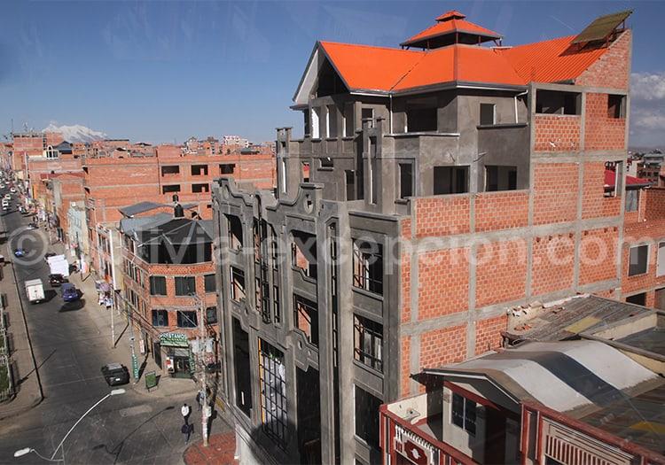 Vue depuis le téléphérique bleu, La Paz