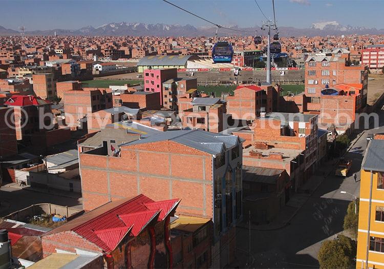 Téléphérique bleu, La Paz, Bolivie