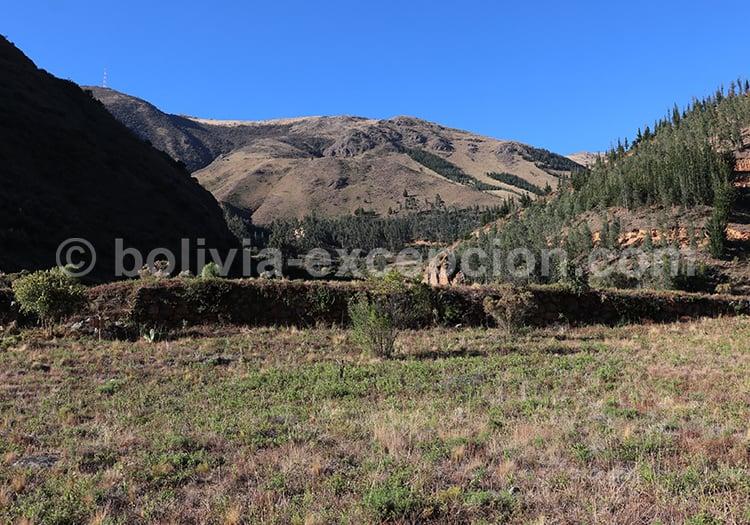 La forteresse de Incallajta, Cochabamba, Bolivie
