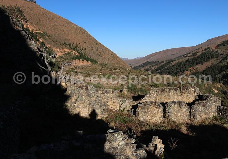 Site archéologique de Inkallajta, cité inca, Bolivie