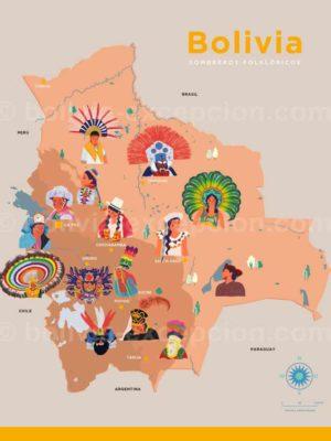 Coiffes folkloriques de Bolivie