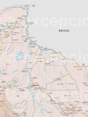 Carte nord de la Bolivie