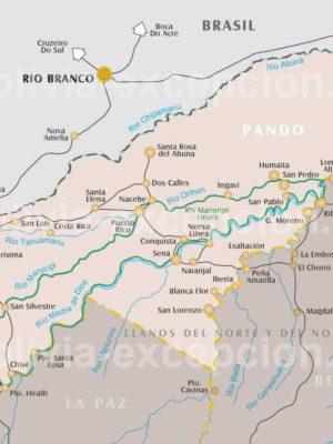 Carte département Pando