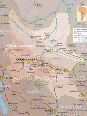 Carte département Cochabamba