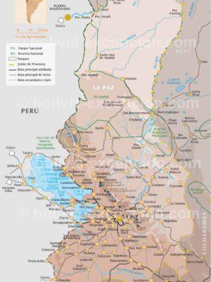 Carte département La Paz