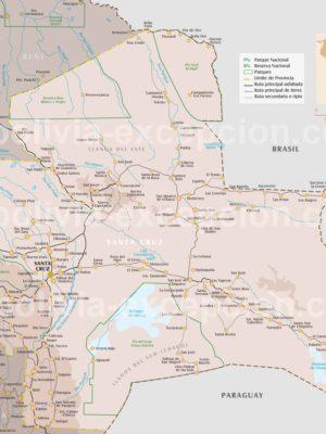 Carte département Santa Cruz