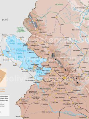 Carte Région La Paz