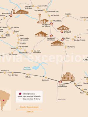 Carte des missions jésuites