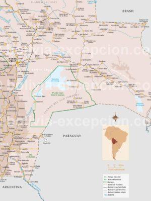Carte Région Santa Cruz