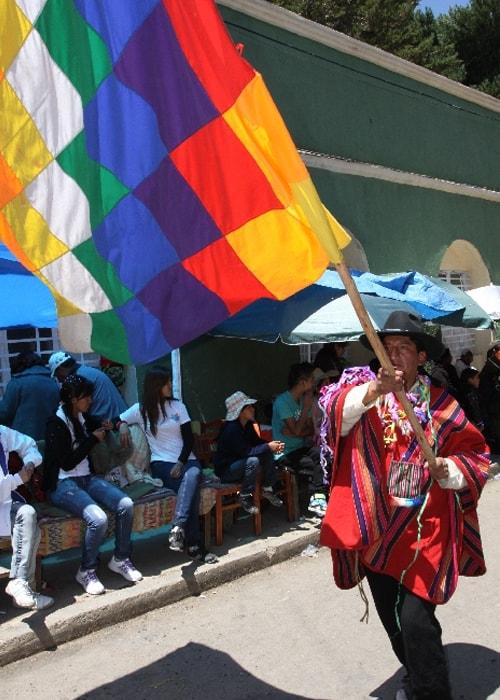Wipala, le drapeau des peuples andins