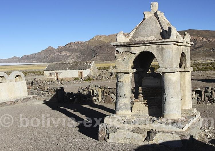 Etape à Tahua, rive nord du salar d'Uyuni