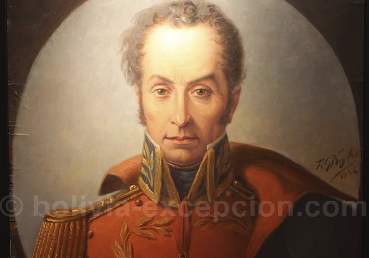 Peinture du buste de Antonio Jose de Sucre