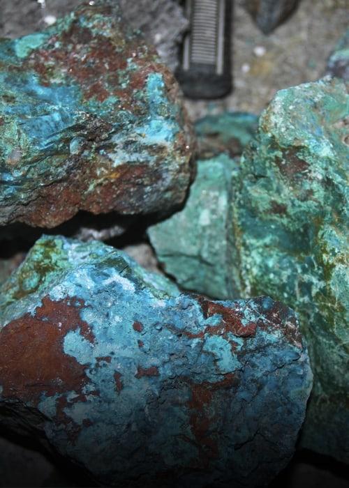 mineraux bleu
