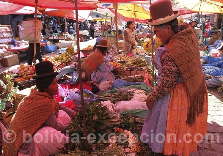 Les cholas de Bolivie
