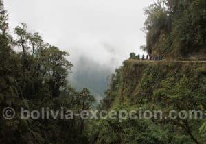 Les abruptes de la route de la mort, Bolivie