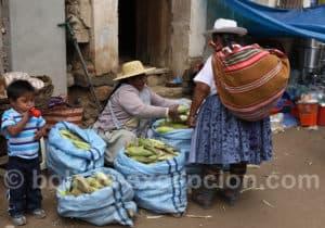 Maïs au marché Tarata