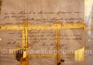 Lettre du général Mariano Melgarejo