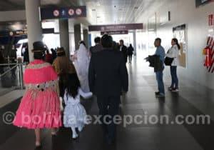 Entrée de la ligne violette, La Paz
