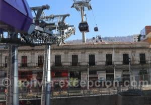Télécabines violettes, ville de La Paz