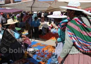 Marché traditionnel de Punata