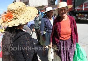 Les chapeaux de paille boliviens