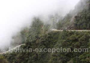 Les courbes de la route de la mort, Bolivie