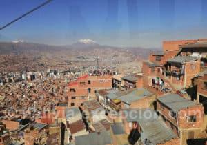 Vue de La Paz et de l'Illimani