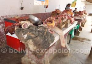 Boucherie au marché Tarata
