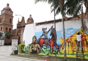 Fresque historique à Santa Cruz de La Sierra