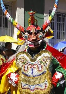 Masque de diablada carnaval Bolivie
