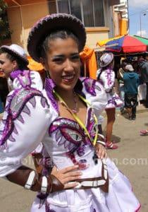 Carnaval a lieu en l'honneur de la Virgen del Socavón
