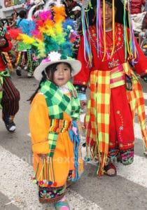 Danseuse tinku à Oruro