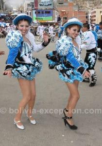 Bailarinas de caporales, Bolivie