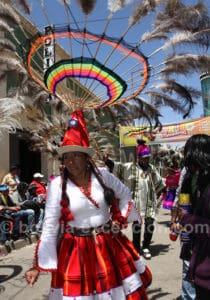 Les plumes du carnaval d'Oruro