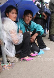 Spectateurs au carnaval d'Oruro