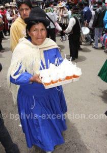 Marchande de crème glacée à Oruro