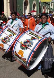 Grosse caisse au carnaval de Oruro