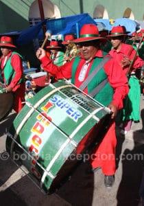 Musiciens au carnaval de Oruro