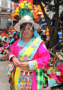 Vierge del Socavón, Patronne du folklore bolivien