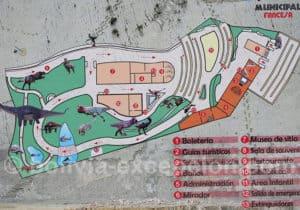 Plan du parc du crétacé Cal Orck'o