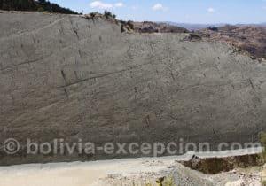 Site de Cal Orcko, empreintes de pas de dinosaures