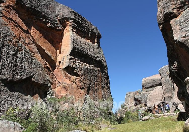 Canyon cité de Itas, peintures rupestres