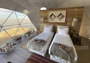 Hotel Kachi lodge intérieur dôme